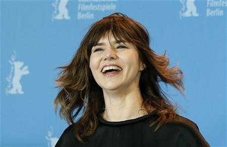 "Director Szumowska poses during a photocall to promote the movie ""In the name"" at the 63rd Berlinale International Film Festival"