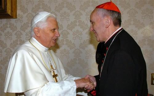 Benedict XVI meets Cardinal Bergoglio