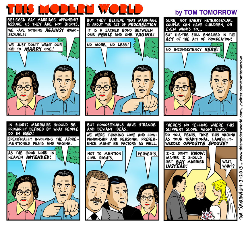 Tom Tomorrow on Gay Marriage