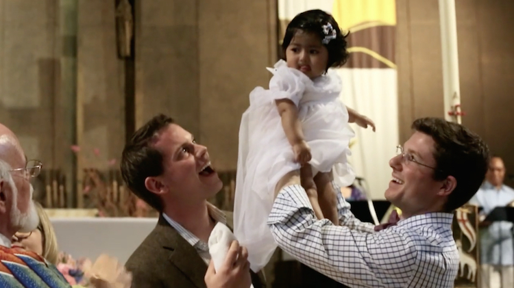 Gay Dads Baptize Their Daughter