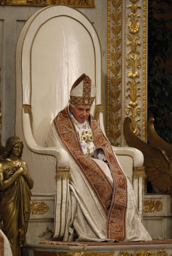 sad lonely pope