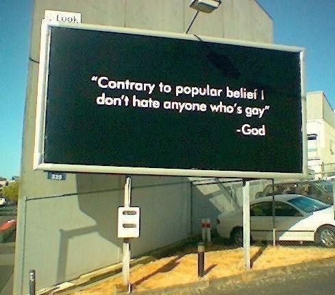 gay--God Billboard