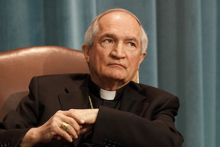 ARCHBISHOP TOMASI, VATICAN OBSERVER AT UNITED NATIONS IN GENEVA, PICTURED DURING TOWN HALL DISCUSSION ON MIGRATION IN ROME