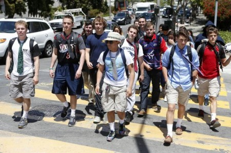 students at Sacred Heart Cathedral Preporatory