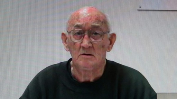Convicted paedophile priest Gerald Ridsdale giving evidence at the Royal Commission into Institutional Response to Child Sexual Abuse in Ballarat.