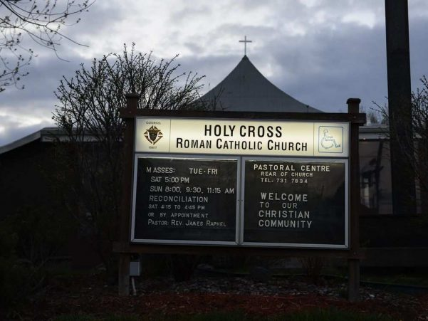 Holy Cross Roman Catholic Church in Ottawa.