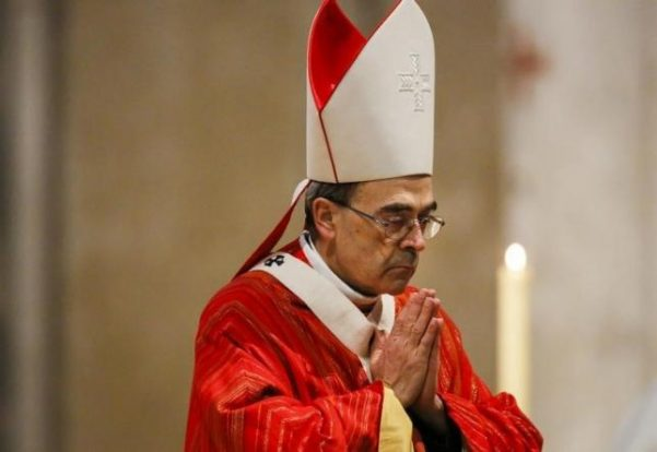 French Archbishop Philippe Barbarin attends a Good Friday mass in Saint-Jean Cathedral in Lyon, France, March 25, 2016. REUTERS/Robert Pratta - RTSC927